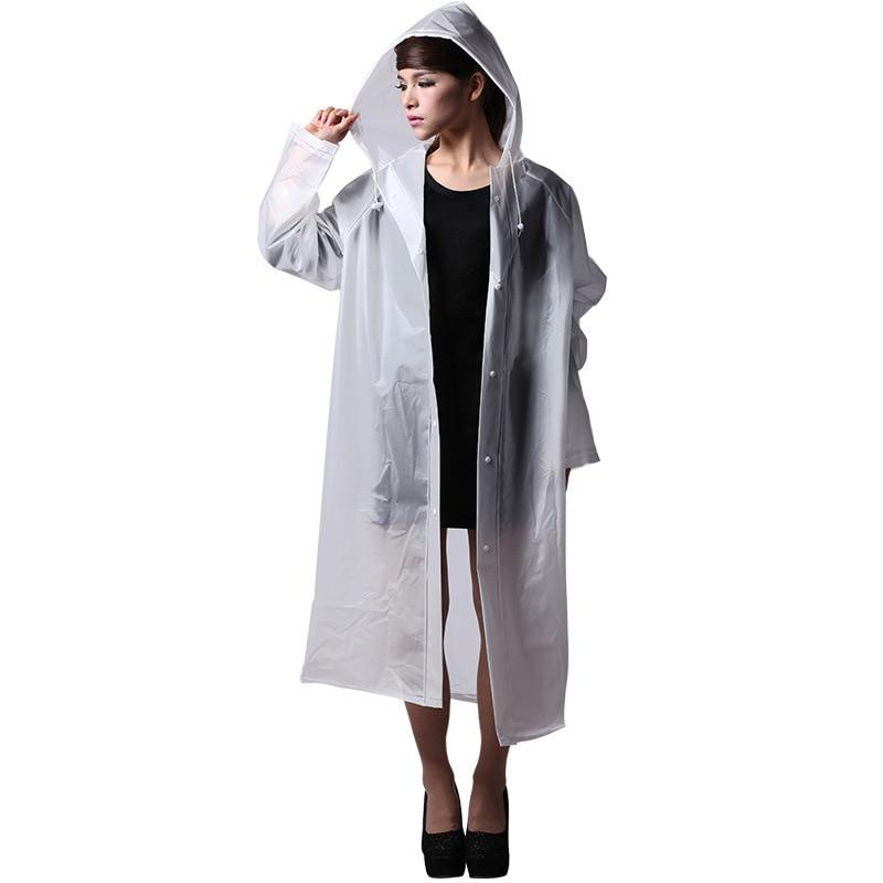 אופנה ואישיות ארוך EVA דבש ג 'לי דבק שלג הגנה על מים לבן לבן גשם קפוא חליפות בחוץ נשים רזה מעיל גשם