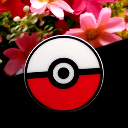 40pcs/Lot 30mm Resin Flatback Japanese Character Cartoon Pokemon Go Resin Planar Pokeball Resin Cabochon DIY for Handmade
