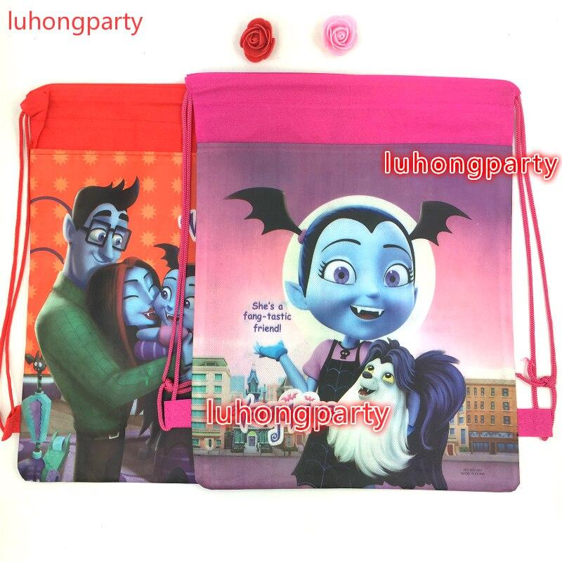 20pcs Vampirina Theme Cartoon Non-woven Fabrics Drawstring Backpack Gift Bag For Kids Vampirina Birthday Party Favor