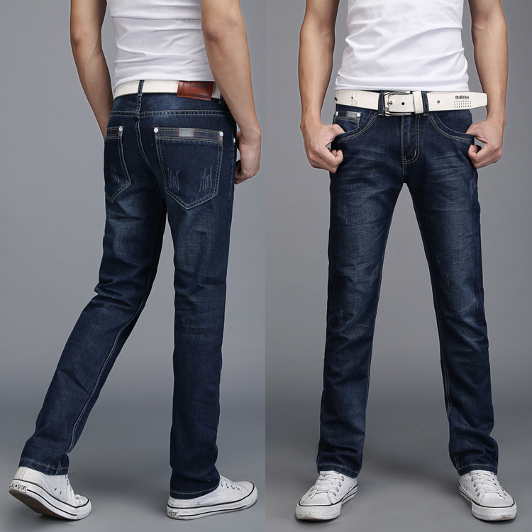 Denim Skinny Trousers Cotton Classic Straight Jeans  2