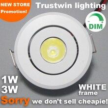10 ชิ้นในร่มกลางแจ้ง 110V 220V สีขาว MINI โคมไฟเพดาน LED โคมไฟหรี่แสงได้ 1W 3W MINI LED downlight หรี่แสงได้