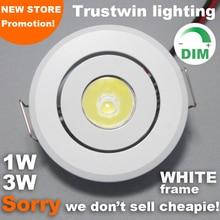 10 sztuk kryty odkryty 110V 220V biały Mini lampa do sufitu led światło punktowe ściemniania 1W 3W mini led typu downlight ściemniania
