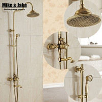 Bathroom Antique brass shower set with bathroom rain shower head antique shower set Antique Shower Bathtub Faucet Sets