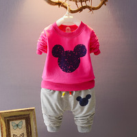 Toddler Cotton Baby Boy Girl Kids Clothing Set Autumn Clothes Suit Long Sleeves T Shirt Pants