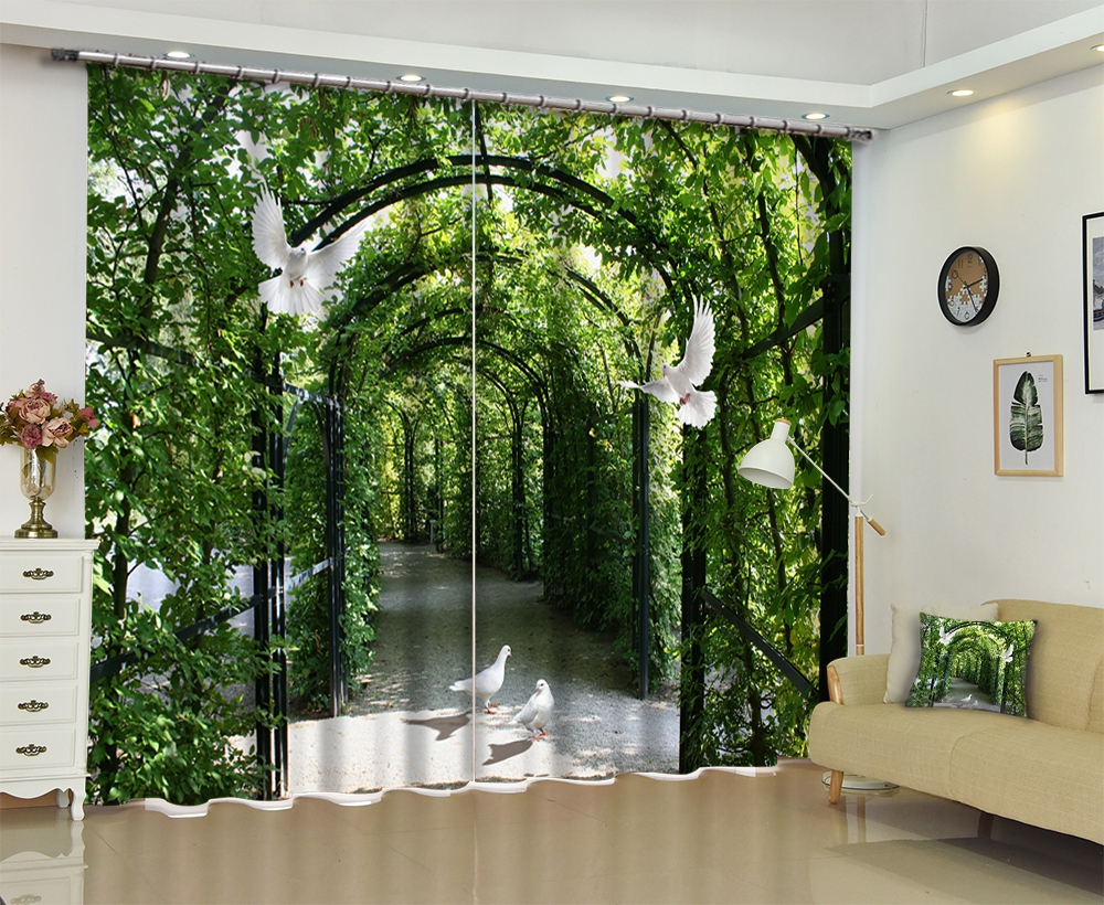 Tree Customized Chinese Modern Luxury 3D Blackout Window Curtain Drapes For Living room Bed room Hotel Wall Tapestry Cortinas Tree Customized Chinese Modern Luxury 3D Blackout Window Curtain Drapes For Living room Bed room Hotel Wall Tapestry Cortinas