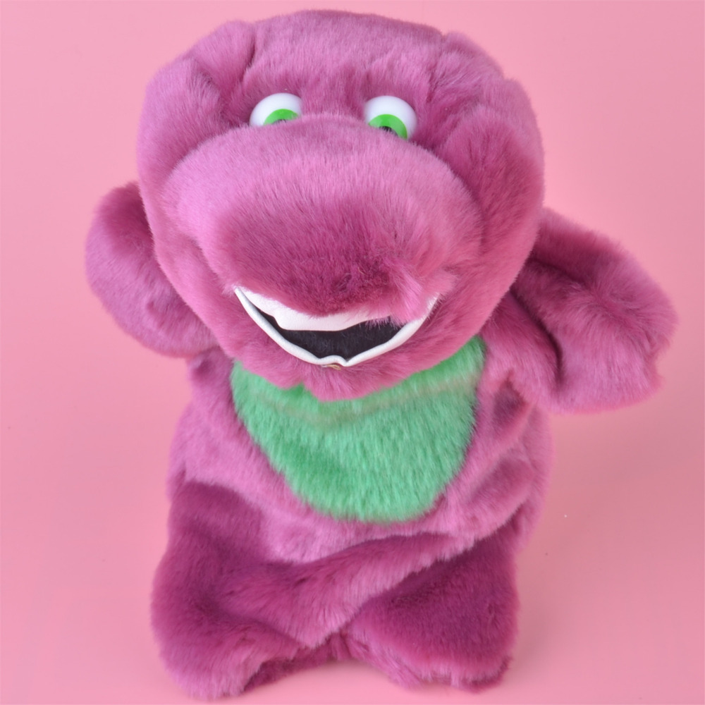 ᗑ】25 cm Barney dragón juguete de la marioneta de mano de La felpa ...