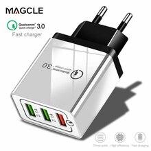Magcle 18W USB Быстрая зарядка 3,0 5V 3A для Iphone XR XS MAX ЕС нам Подключите мобильный телефон быстрое зарядное устройство для зарядки для Samsug S10 huawei
