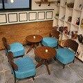 Moderno pequena mesa de café sofá cadeiras para a loja