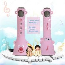 лучшая цена HAOBA Wireless Microphone Bluetooth Speaker Stereo Music Player For KTV Karaoke Singing For Android IOS Phone For Boy Girl