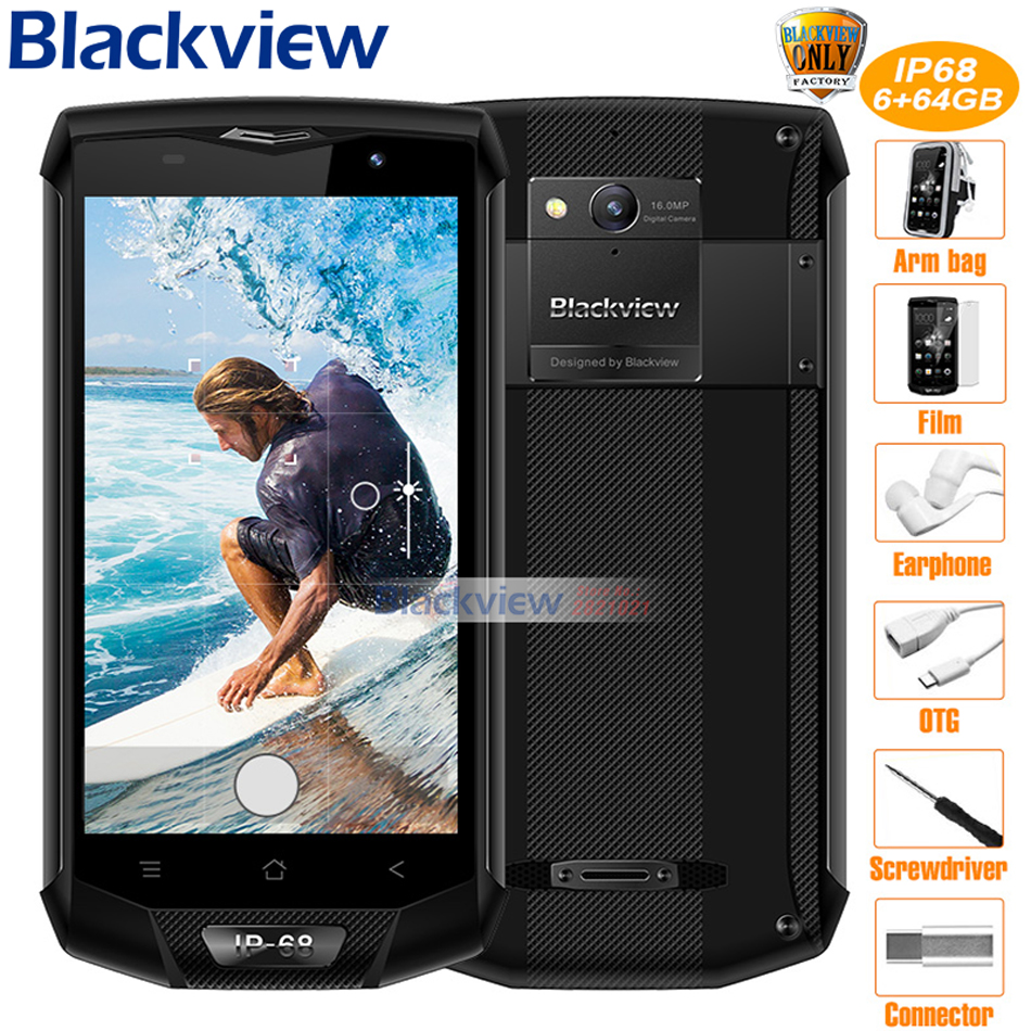 "Blackview BV8000 Pro 4G Mobile Phone 5.0 "" FHD Helio P20 Octa Core 6GB RAM 64GB ROM 16MP Waterproof IP68 Side Fingerprint"