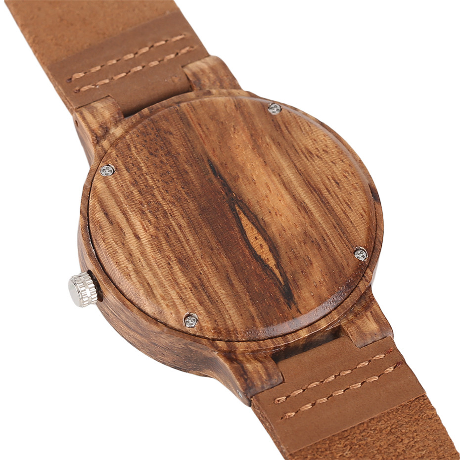 Creative Shiny Weave Bamboo Wood Watch Nature Analog Quartz Cool Men Wristwatch Women Leather Strap Bracelet Handmade Clock Gift Fashion (5)
