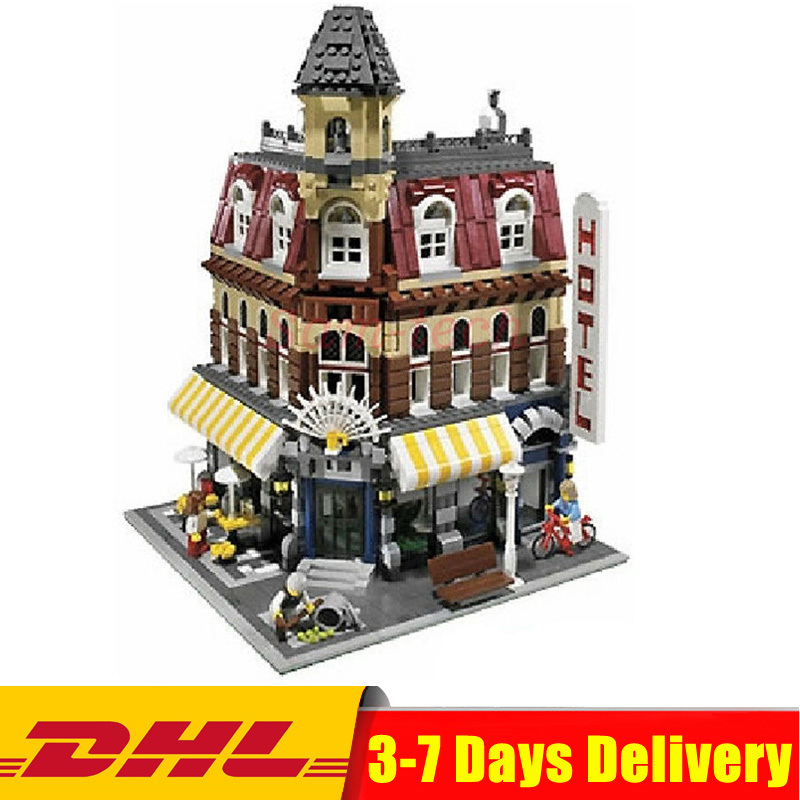 DHL Compatible Legoingly Creators 10182 Cafe Corner Model Building Kits Blocks Kid DIY Educational Toy Children Day Gift new lepin 15002 2133pcs cafe corner model building kits blocks kid diy educational toy children day gift brinquedos 10182