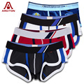 A ARCITON 4PCS Wholesale/Retail Mens Underwear Boxers Cotton Cueca Boxer Men Print Boxer Shorts(N-519)