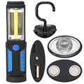 Hot Super Bright USB Charging LED Flashlight Torch Work Stand Light Magnetic+HOOK + Mobile Power Function for Outdoor Use