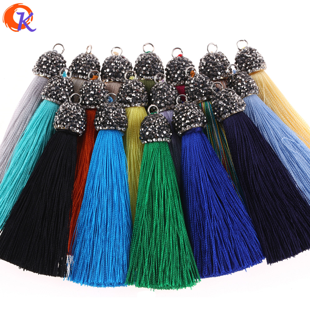 Cordial Silk Tassels/Jewelry Accessories/Drilling Cap/diy Jewelry/Jewelry Making /Hand Made/Embellishments/Earring Findings