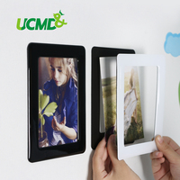 Wall Sticker Magnetic Photo Picture Frames Wall Decor Movable Flexible Colorful Square Frame Picture Frames For