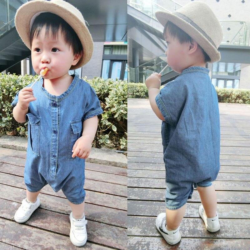 Newborn Baby boy clothing sets baby onesie child summer ruffle short sleeveless Jumpsut toddler baby girl clothes romper cloth
