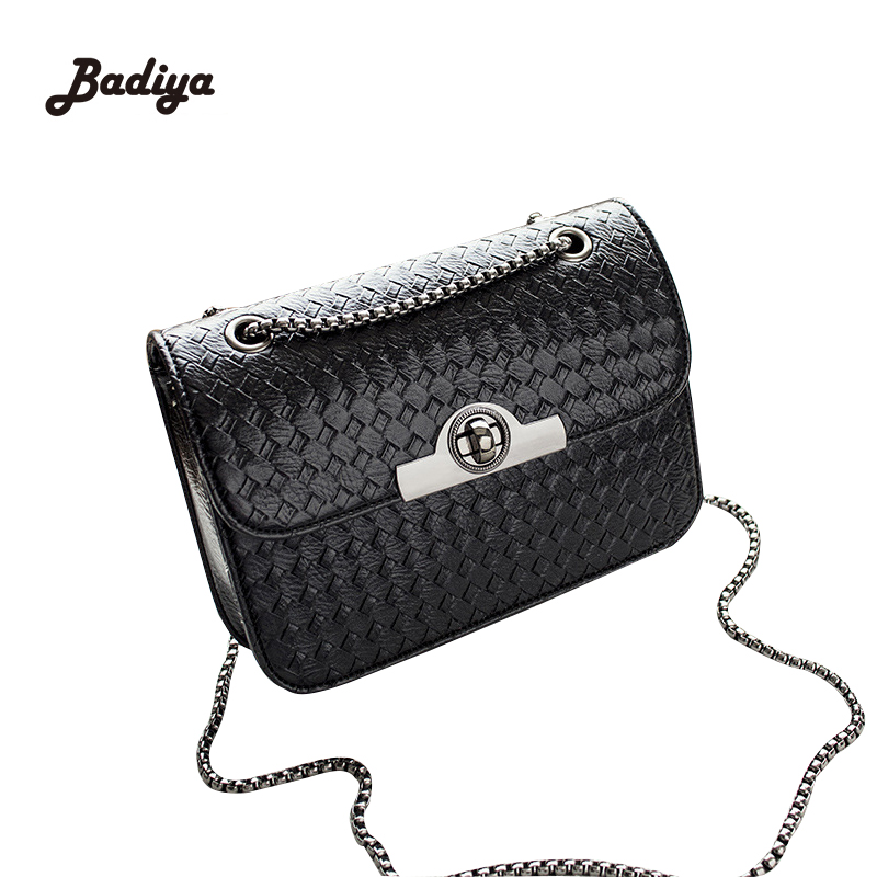 Trendy Designer Knitting Chains Strap Ladies Small Flap Messenger Bag Phone Weave Hasp Women Bags With Lock Fashion Shoulder Bag  women designer shoulder bags ladies mini transparent jelly flap bag girls cute cartoon chains beach bag bolsos femininas
