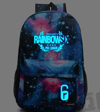 New Rainbow 6 Siege Rainbow Six Backpacks Siege Steam Games Student Bags Men And Women Laptop Shoulder Travel Bag
