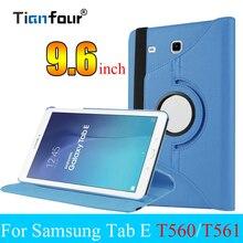 Smart Cover Tablet чехол для samsung Galaxy Tab E 9,6 SM T560 T561 360 Вращающийся флип чехол с подставкой Функция принципиально