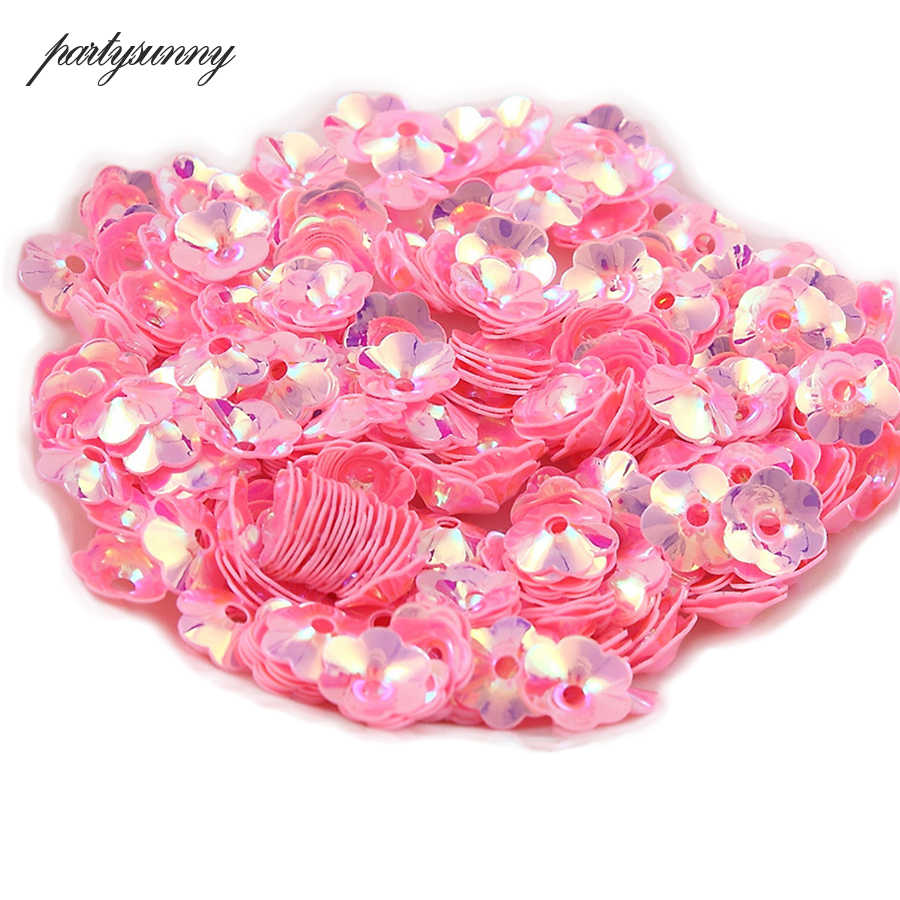 20g/Pack 6mm Flower Sequins for Crafts Loose Lentejuelas for Needlework and Sewing PVC Paillettes Fittings for Costume Jewelery
