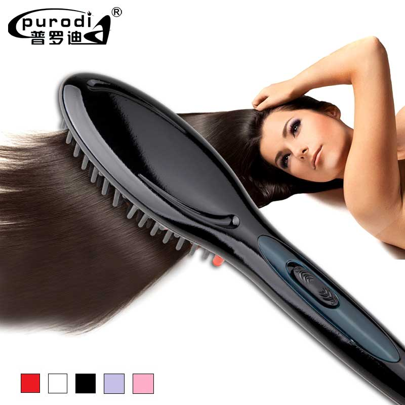 Electric hair straightener brush Hair Care  Styling hair straightener Comb Auto  Straightening Irons Simply Fast Hair iron electric digital hair straightening irons professional fast ceramic hair straightener brush comb styling tools escova alisador