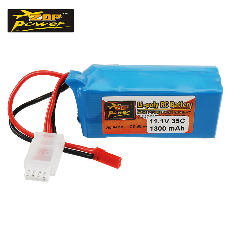 Rechargeable Lipo Battery ZOP Power 11.1V 1300mah 35C 3S Lipo Battery JST Plug Connector For RC Models Multicopter Spare Part