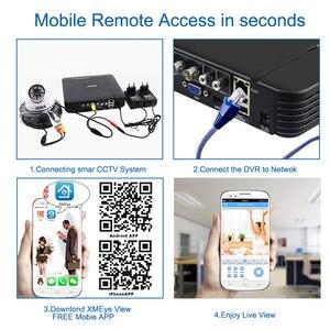 Image 5 - Smar 720P 1080P System monitoringu wizyjnego 4CH H.264 CCTV wideorejestrator HDMI zestaw bezpieczeństwa kryty bezpieczeństwo w domu kamera dzień i noc wykryj