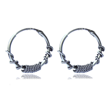 Fashion Small Round Circle Hoop Earrings For Women Girls Man Men Vintage Silver Ear Brincos 2018 Punk Hip hop Indian Jewelry