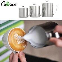 Jarro de Leche Jarra de Café de Acero inoxidable Taza de Flores Tirón Cappuccino Latte Arte Jarra Para Espumar la Leche Nuevas Herramientas de Cocina