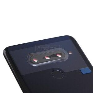 Image 4 - ل LG V40 ThinQ V405QA7 V405UA V405TAB V405UA0 عودة الإسكان/الخلفية غطاء الباب الخلفي مع بصمة كاميرا زجاج هدية