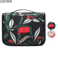 Brand Design Flowers Hanging Storage Cosmetics Make Up Bag Travel Portable Large Necessary Beauty Wash Toiletry