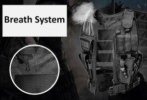 Image 5 - 높은 품질 전술 조끼 보안 야외 훈련 전투 CS 필드 보호 조끼 페인트 볼 게임 SWAT 팀