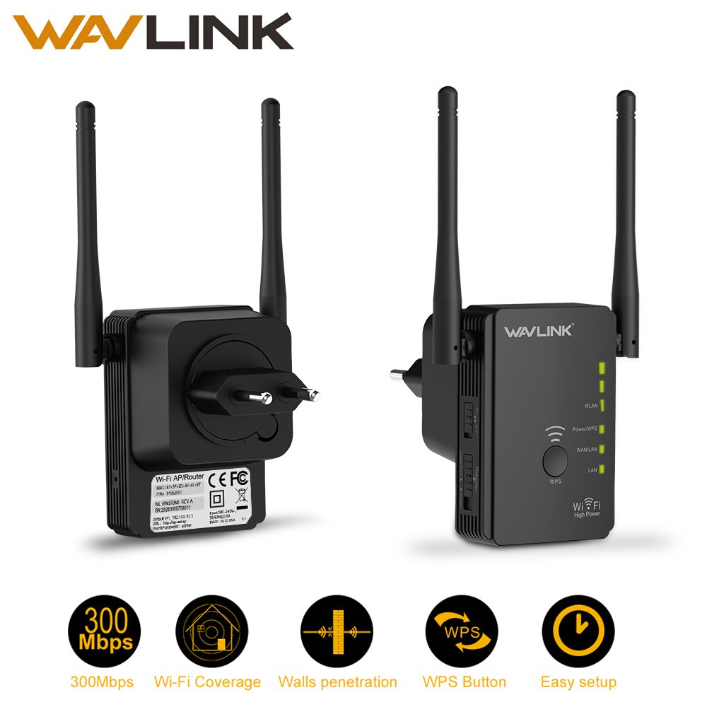 Wavlink Wireless-Wifi Signal-Amplifier Wi-Fi extender Black Router/Repeater/access-point