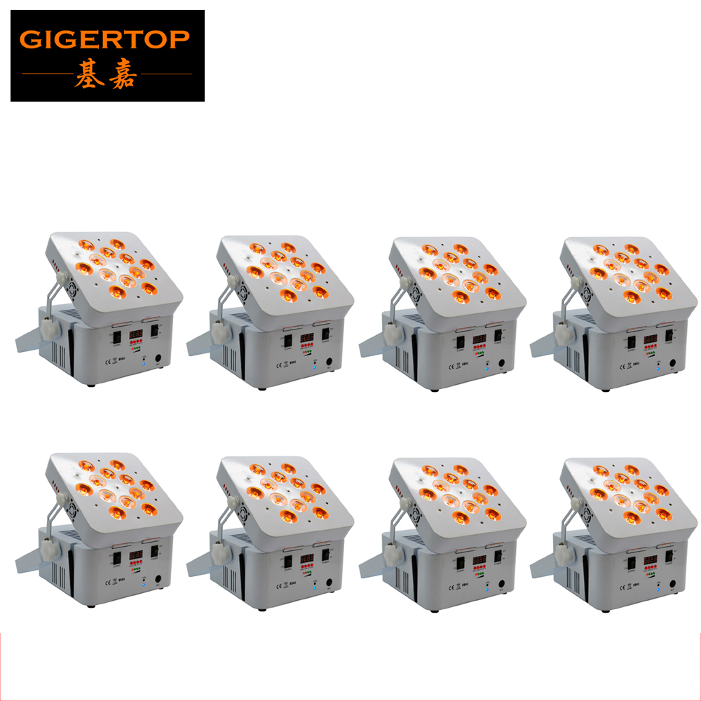 Freeshipping 8 Pack Android System SmartPhone App Control battery&wireless 12x18W RGBWA UV 6in1 Wireless Uplight Wash Light freeshipping rs232 to zigbee wireless module 1 6km cc2530 chip