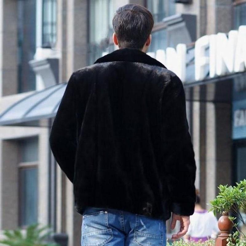 L 4xl Hooded Hood S Xxl Fourrure Lapin Manteau vent En De no Vestes Hommes Plue Fausse À Hiver Parka M Xxxl Capuchon Coupe Taille QdxerWCBo