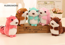 Kawaii Multi Colors MIX , NEW 24pcs/lot Squirrel - 9CM Stuffed animal Plush Toy dolls , Kid's Gift key chain Plush TOY DOLL