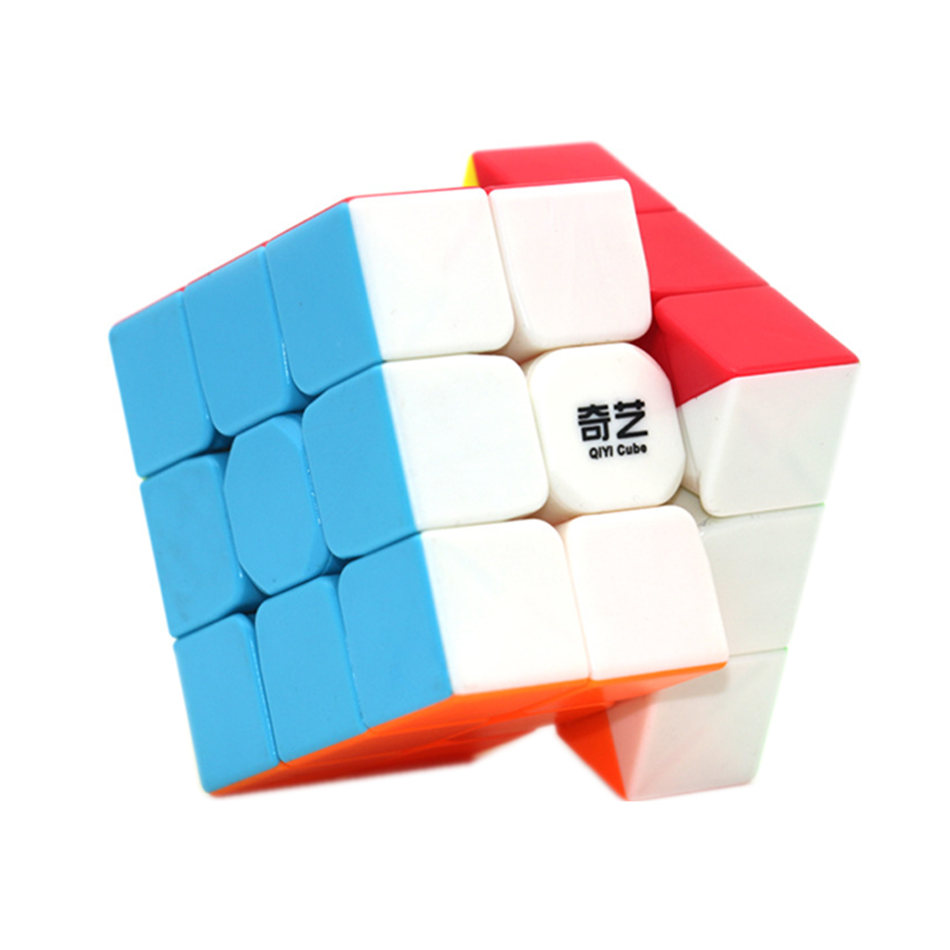 Qiyi 3x3x3 Cube New Warrior W 3x3 Magic Cube  3 Layers Black Speed Magic Cubes Profissional Puzzle Toys For Children Kids Gift
