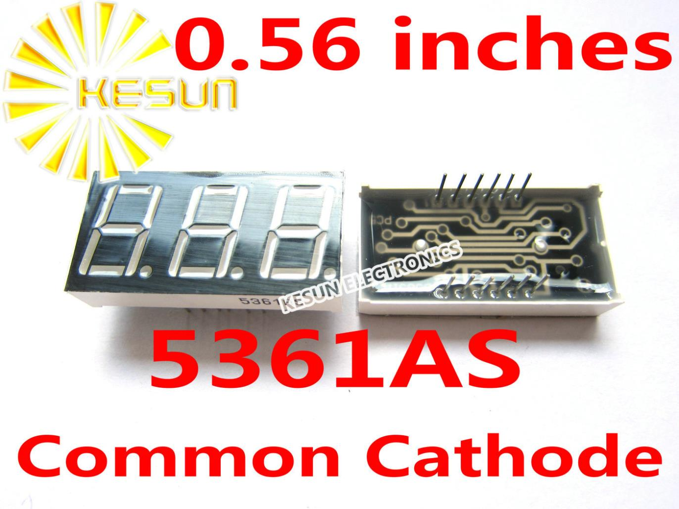 5PCSx 0.56 Inches Red Blue Jade Green 3 Digital Tube 5361AS 5361BS 5361AB 5361BB 5361AGG 5361BGG LED Display Module