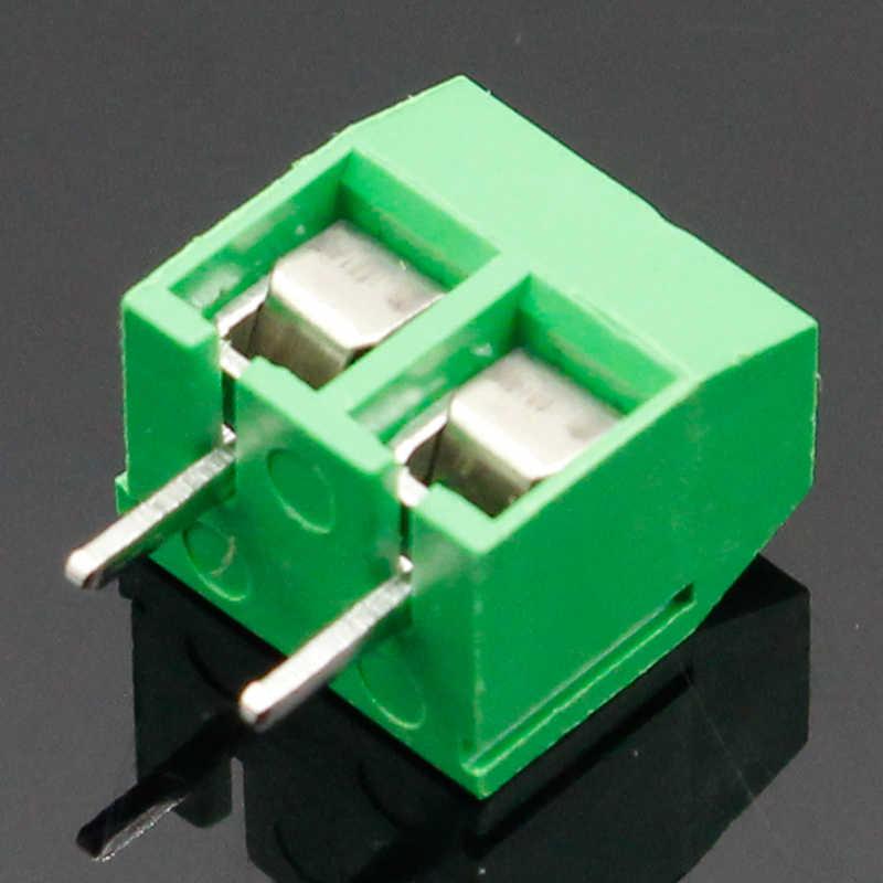 20 Stks/partij KF301-2P KF301-5.0-2P KF301 Schroef 2Pin 5.0Mm Straight Pin Pcb Screw Blokaansluiting Blauw En Groen