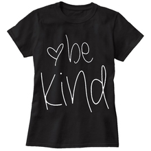 Tumblr Womens T Shirts Be Kind Letter Print Short Sleeve O-Neck Graphic Tees Summer Casual Cute Funny T-Shirts Kyku