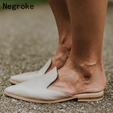 купить Summer Flats Mules Ladies Sandals Slippers Fashion Slip On Pointed Toe Women Loafers Outdoor Slipper Shoes Woman Slides Mules по цене 718.04 рублей