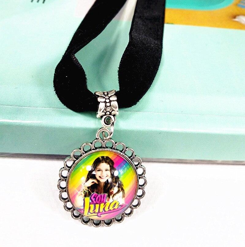 12 pçs/lote (modelos mistos) Jiangzimei Novo estilo Super pop cantor Colar Luna Luna prata Elenco de Soja de Soja estou lua Pingente de vidro