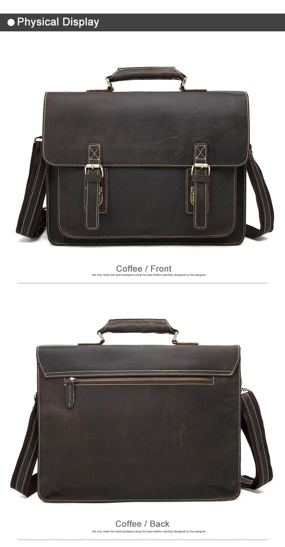 Business Men Briefcase Crazy Horse Genuine Leather Men Bag Handbags Totes Vintage laptop bag Male Shoulder bags 01 (3)