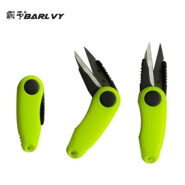 Fish Shrimp-shaped Stainless Steel Use Scissors Accessories Folding Fishing Line Cut Clipper Scissor Tackle