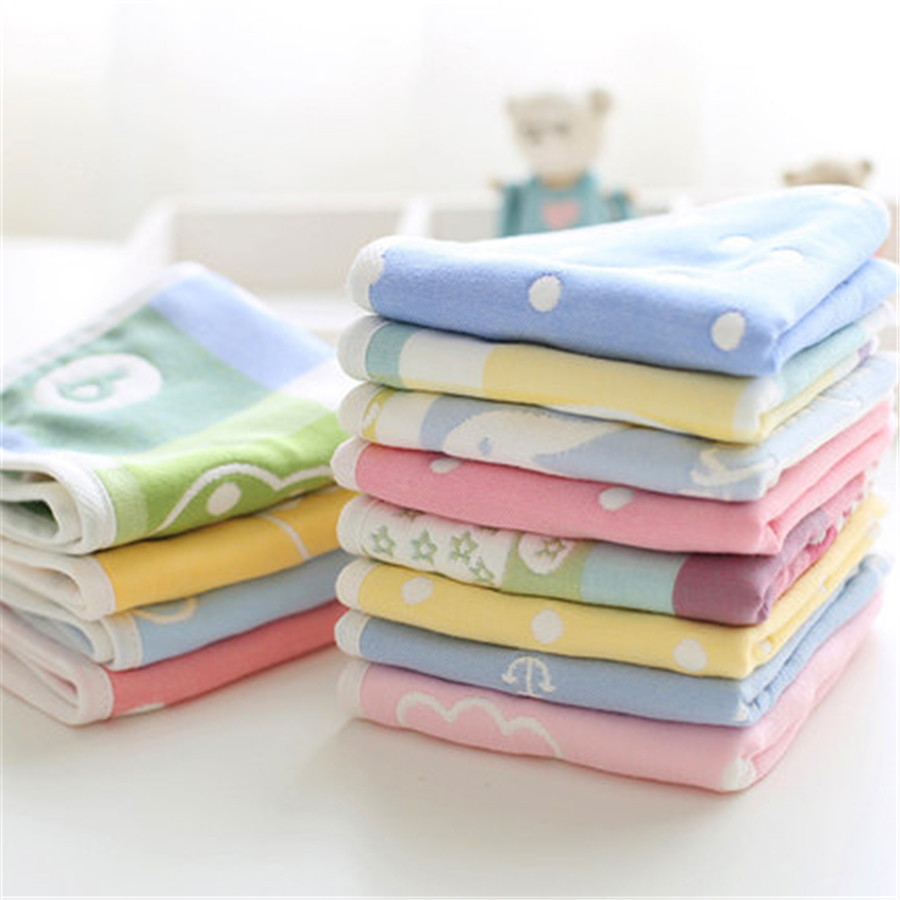 Soft Muslin Cotton Newborn Baby Towels Bath Handkerchief 3 Pcs Newborn Feeding Stuff Cute Hand Face Baby Towel Cozy 70A0065