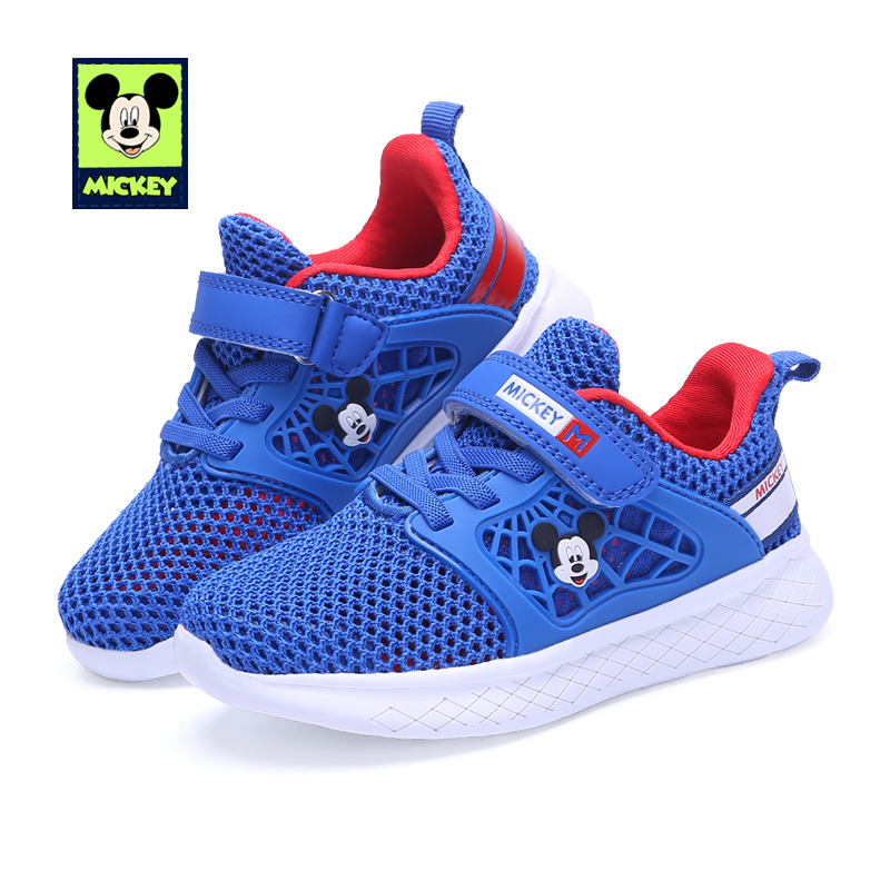 Disney children's shoes mesh casual shoes New summer boys girls fashion non-slip wear-resistant sports shoes for kid size 26-30