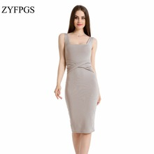 ZYFPGS 2019 Spring Sweater Dress Woman Sexy Night Club Women Dresses Elasticity Silm #D0041