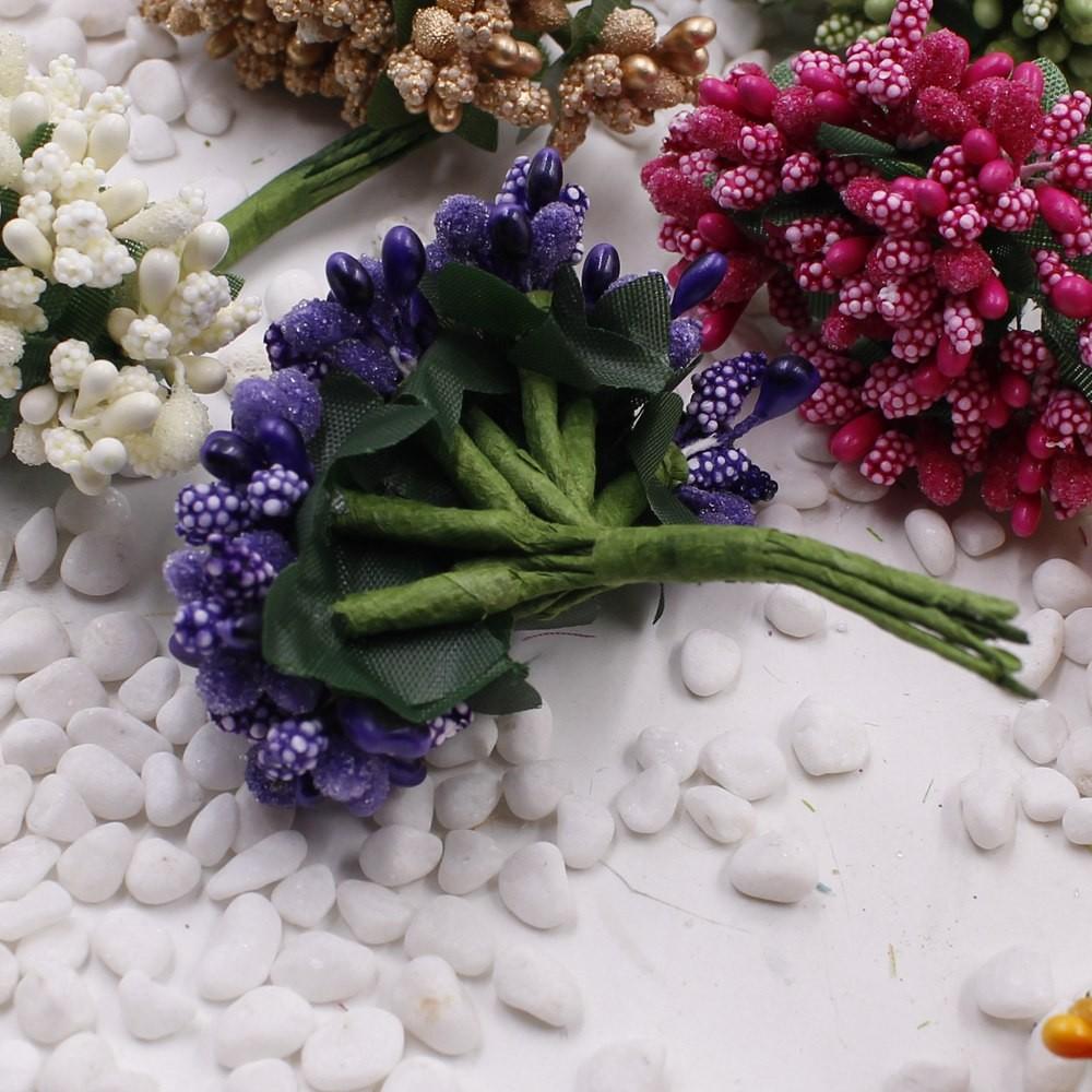 16 12pcs Berry Artificial Stamen Handmade Flower For Wedding Home Decoration Pistil DIY Scrapbooking Garland Craft Fake Flower 6