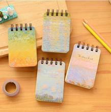 2015 Fashion Coil Notepad Mini Pocket Note Book Colorful Diary Journal Record Stationery School Supplies